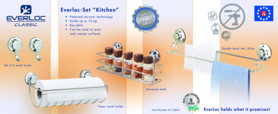 Everloc Kitchen suction cups